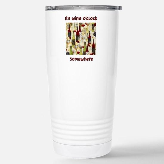 It's wine o'clock Travel Mug
