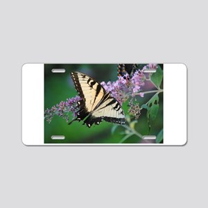 Butterfly on Lillac Aluminum License Plate