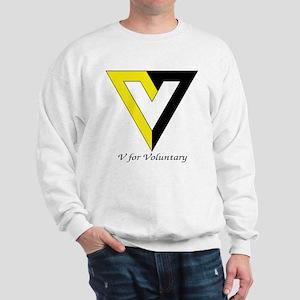 V for Voluntary Sweatshirt