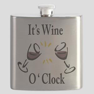 It's Wine O'Clock Flask
