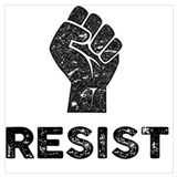 Resist Wrapped Canvas Art