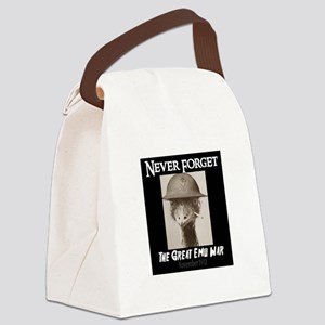 Never Forget- The Great Emu War Canvas Lunch Bag