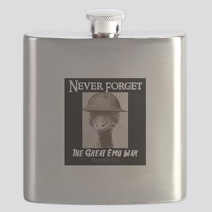 Never Forget- The Great Emu War Flask