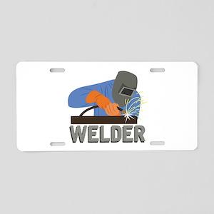 Welder Aluminum License Plate