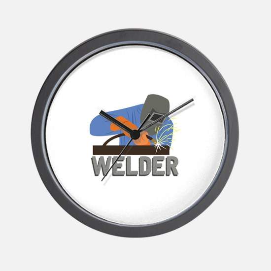 Welder Wall Clock