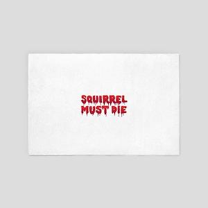 Squirrel Must Die 4' x 6' Rug