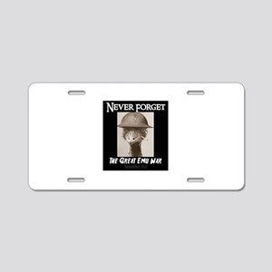 Never Forget- The Great Emu Aluminum License Plate
