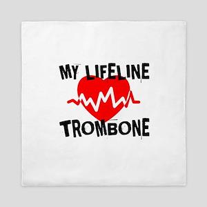 My Lifeline trombone Music Queen Duvet