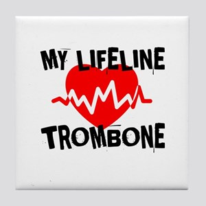 My Lifeline trombone Music Tile Coaster