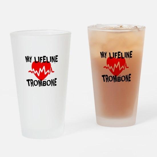 My Lifeline trombone Music Drinking Glass