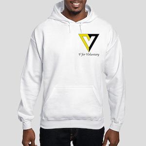 V for Voluntary Hooded Sweatshirt