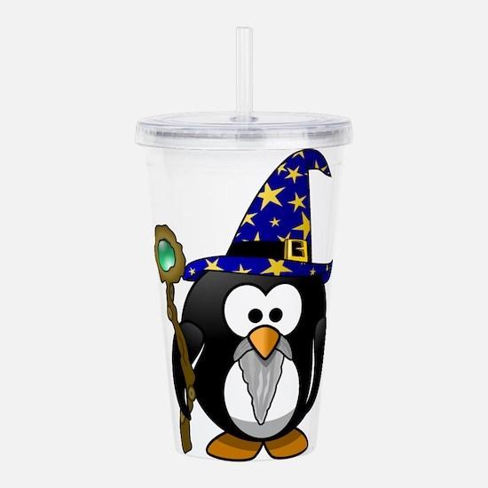 Cute Tux penguin Acrylic Double-wall Tumbler