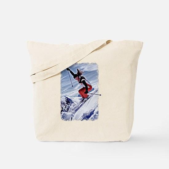 Cute Skiing Tote Bag