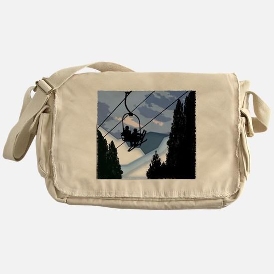 Unique Skis Messenger Bag