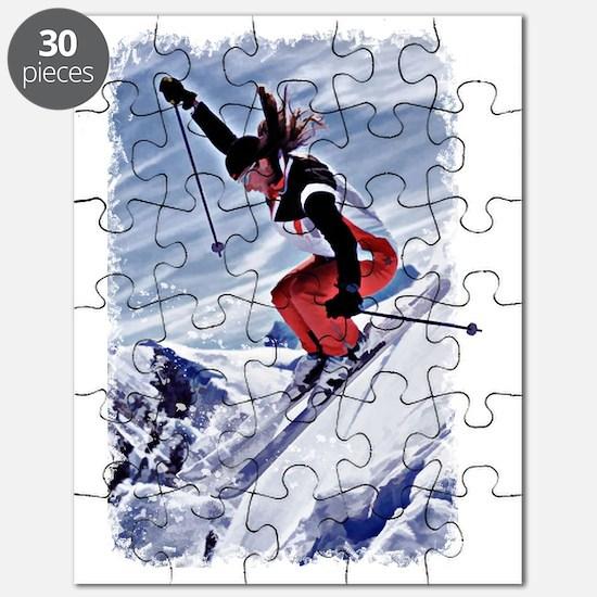 Unique Skiing Puzzle