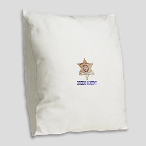 Maricopa Sheriff Citizens Academy Burlap Throw Pil