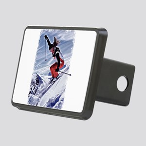 Skiing Down the Mountain i Rectangular Hitch Cover