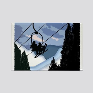 Chairlift full of Skiers Magnets