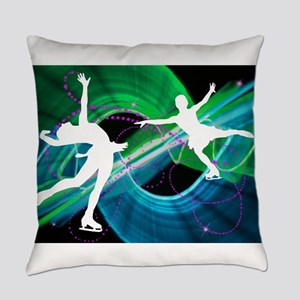 Bedazzled Figure Skaters Everyday Pillow
