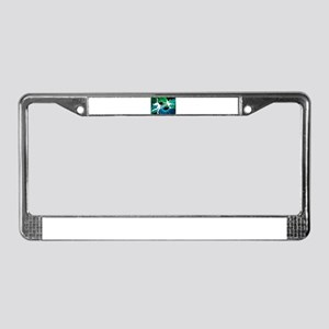 Bedazzled Figure Skaters License Plate Frame