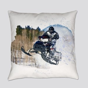 Airborne Snowmobile Everyday Pillow