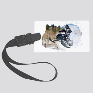 Airborne Snowmobile Large Luggage Tag