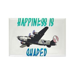 Happiness is a Warbird Rectangle Magnet (100 pack)