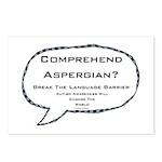 Autism ~ Comprehend Aspergian? Postcards (Package
