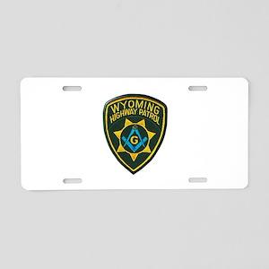 Wyoming Highway Patrol Mason Aluminum License Plat