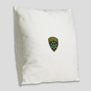 Wyoming Highway Patrol Mason Burlap Throw Pillow