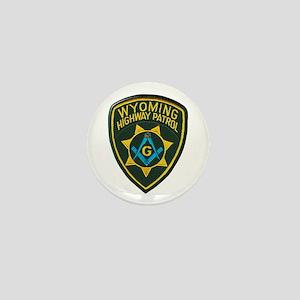 Wyoming Highway Patrol Mason Mini Button