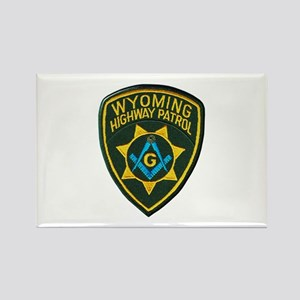 Wyoming Highway Patrol Mason Magnets