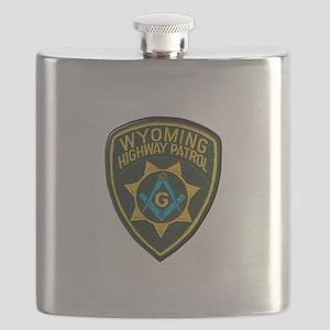 Wyoming Highway Patrol Mason Flask