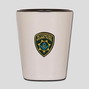 Wyoming Highway Patrol Mason Shot Glass