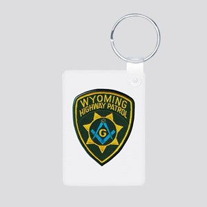 Wyoming Highway Patrol Mason Keychains