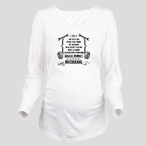 Call me Mechanic Long Sleeve Maternity T-Shirt