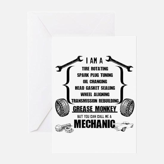 Call me Mechanic Greeting Cards