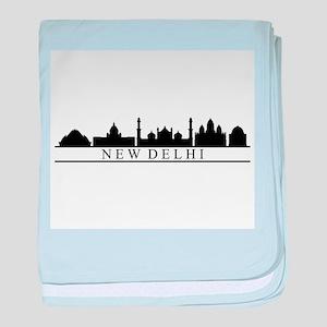 skyline new delhi baby blanket