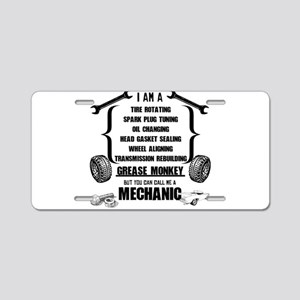 Call me Mechanic Aluminum License Plate
