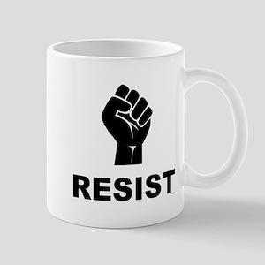 Resist Fist Black Mugs