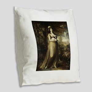 teresa vandoni Burlap Throw Pillow