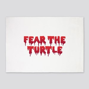 Fear the Turtle 5'x7'Area Rug