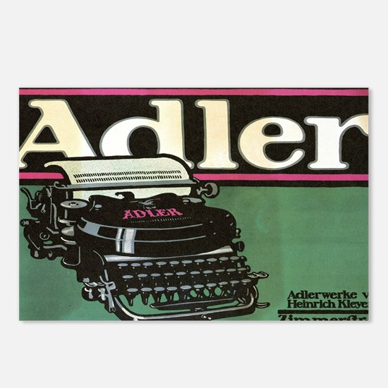 Cool Vintage typewriter Postcards (Package of 8)