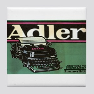 Vintage poster - Adler Typewriters Tile Coaster