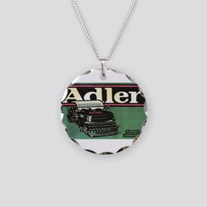 Vintage poster - Adler Typew Necklace Circle Charm