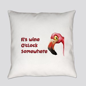 It's Wine O'Clock Somewhere Everyday Pillow