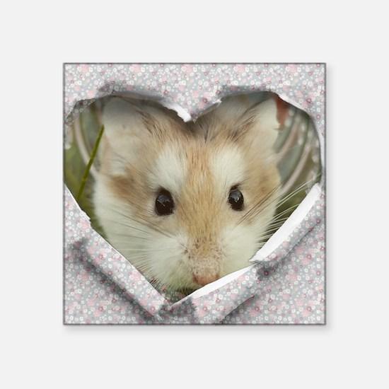 Peep Hole Hamster Sticker