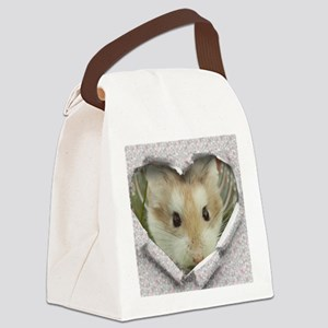 Peep Hole Hamster Canvas Lunch Bag