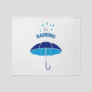 Its Raining Throw Blanket