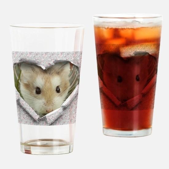 Peep Hole Hamster Drinking Glass